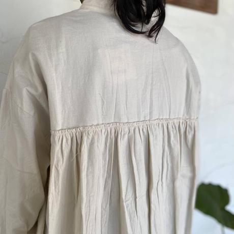 """【SABBATUM】 """"ネルバックギャザーロングシャツ"""""""