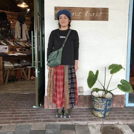 【TIGLEBROCANTE】MIXネルシャツバレルロングスカート
