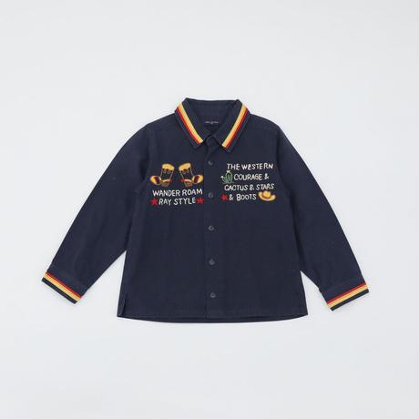 MILOU DE RAY |シャツ|刺繍|ネイビー|120