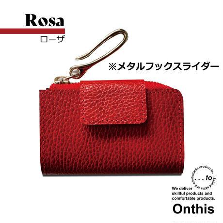 【...to®・Onthis】スマートキーも入るマルチウォレット・Rosa(ローザ)<メタルフックスライダー>