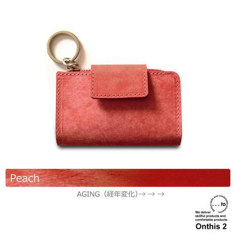 【...to®・Onthis2】スマートキーも入るマルチウォレット・Peach(ピーチ)