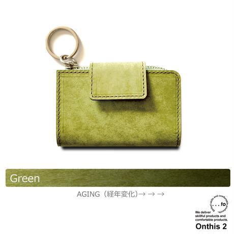 【...to®・Onthis2】スマートキーも入るマルチウォレット・Green(グリーン)