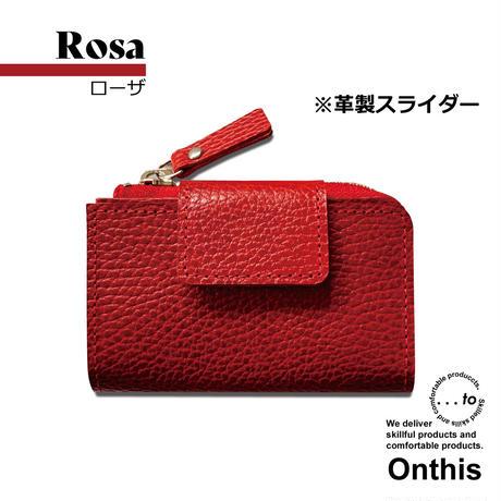 【...to®・Onthis】スマートキーも入るマルチウォレット・Rosa(ローザ)<革製スライダー>