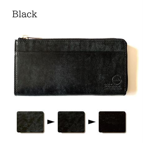 【...to®・Olga】カードが一目瞭然!徹底的に使いやすさにこだわった長財布・Black(ブラック)