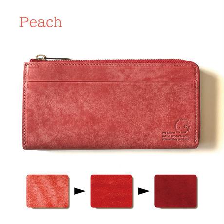 【...to®・Olga】カードが一目瞭然!徹底的に使いやすさにこだわった長財布・Peach(ピーチ)