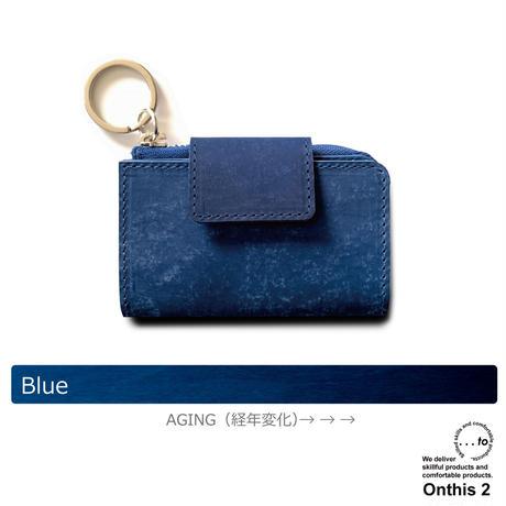 【...to®・Onthis2】スマートキーも入るマルチウォレット・Blue(ブルー)