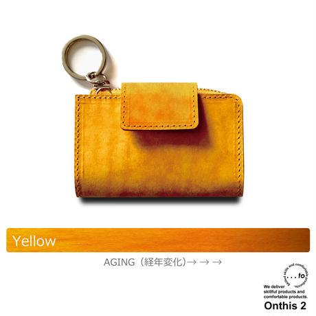 【...to®・Onthis2】スマートキーも入るマルチウォレット・Yellow(イエロー)
