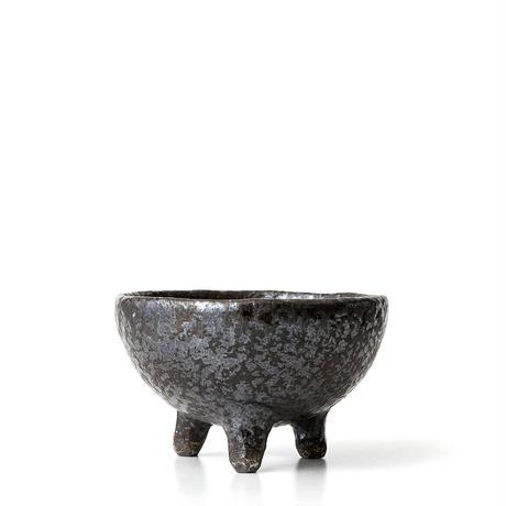 黒彩足付植木鉢 ONT-020
