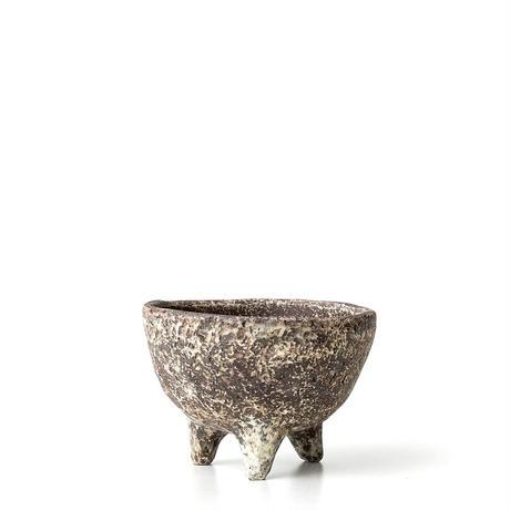 泥彩足付植木鉢 ONT-016