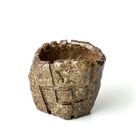 備前刳貫植木鉢 BKU-042