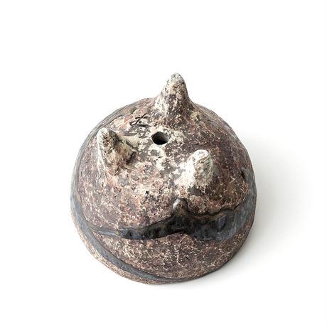 泥彩黒流足付植木鉢 ONT-019
