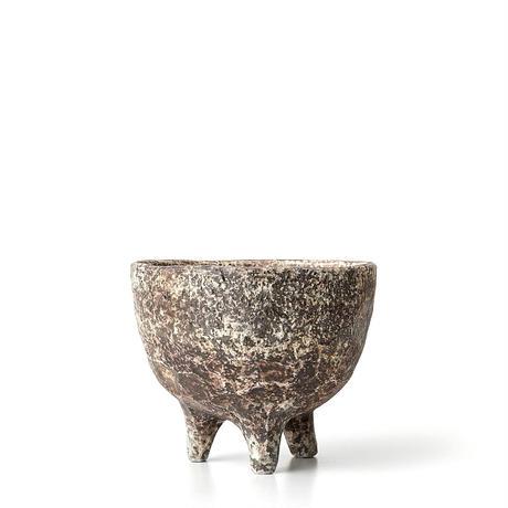 泥彩足付植木鉢 ONT-018
