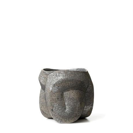 [ SEKKI ] 炻器鉄象嵌植木鉢 A-type SST-003