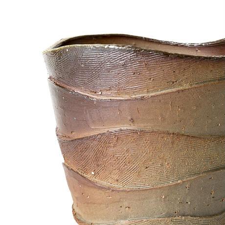 備前波紋植木鉢 BKU-039