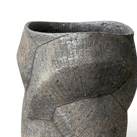 [ SEKKI ] 炻器鉄象嵌植木鉢 B-type SST-004
