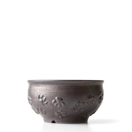 圭介窯 足跡柄植木鉢 KSG-395