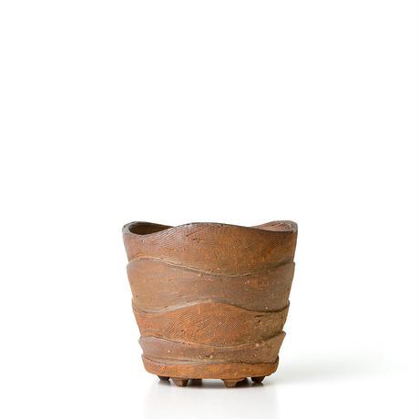 備前波紋植木鉢 BKU-037