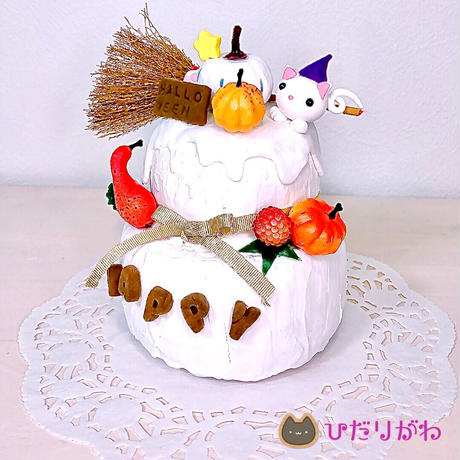 Halloweenクレイケーキ