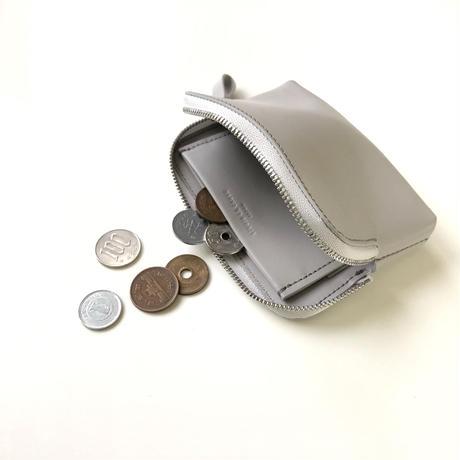 WA 075 M TR,L.GRY  <内縫いラウンドファスナー財布M>