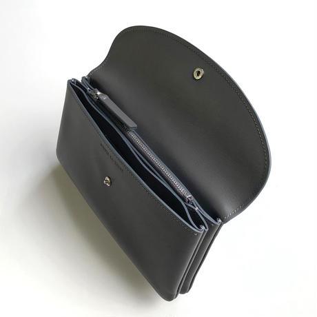WA 070 L TR, GRY  <内縫いフラップ財布 L>