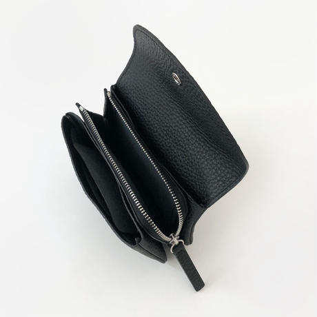WA 071B M BR, BLK <内縫いフラップ財布M>