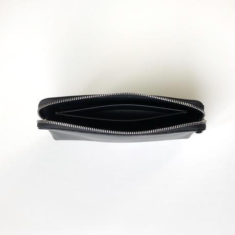 WA 075 L TR, BLK <内縫いラウンドファスナー財布L>