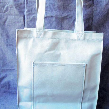 チッチの帆布トートバッグ(ブルーグレー)