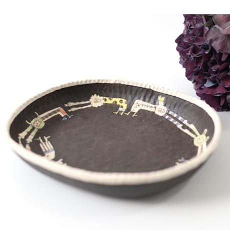 カレー皿(ブラック) 高山愛