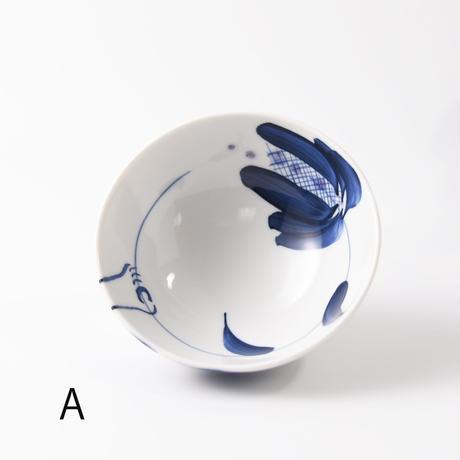 めし碗(花と少年)  栄木正敏