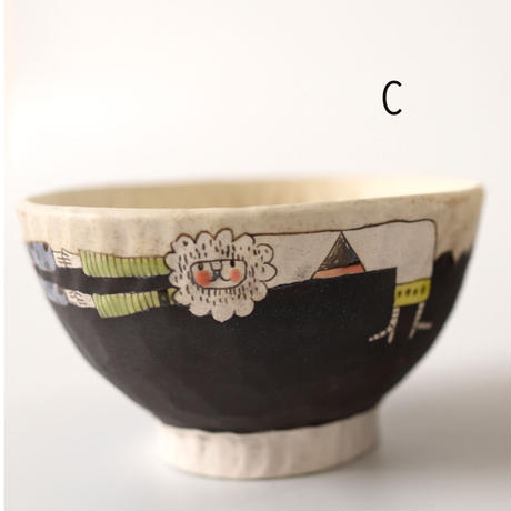 ごはん茶碗(ホワイト・ブラック)  高山愛