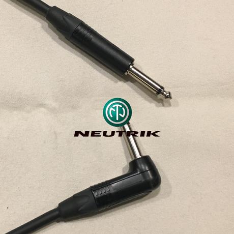 BELDEN 9395 / 3m 楽器・機材用ケーブル:L型⇔S型 (コネクタのブランドはお選び頂けます)