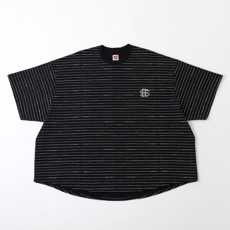 SEE SEE BIG S/S TEE BORDER NAVY/WHITE