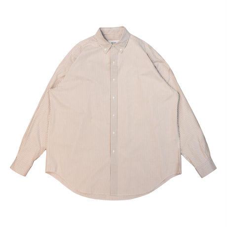 UNITUS(ユナイタス) Super Large Shirt (Stripe) Brown × White【UTSSS21-S04】(N)
