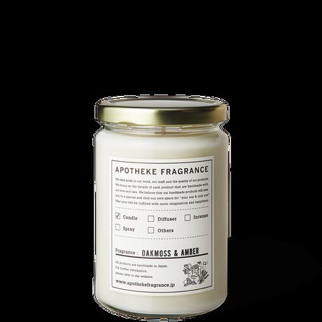 APOTHEKE FRAGRANCE アポテーケ フレグランス GLASS JAR CANDLE / Oakmoss & Amber(N)