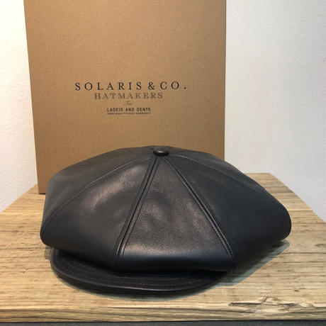 SOLARIS HATMAKERS & Co.  CLASSIC CASQUETTE OLDBOY HORSE HIDE  【SH18AW-04】(N)