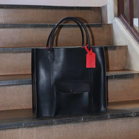 LEON FLAM(レオンフラム)LEATHER TOTE BAG  BLACK