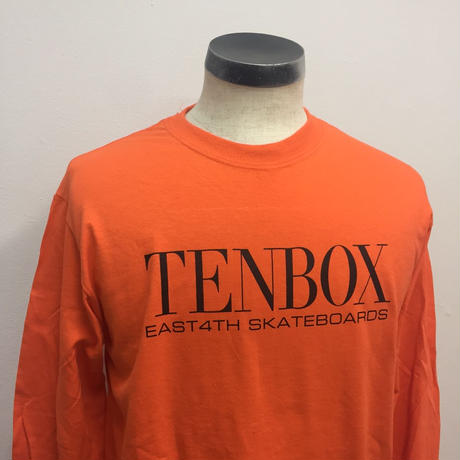【PIGU HOUSE】【Kenzai.Depot】TENBOX×EAST4TH L/S TEE ORANGE(N)