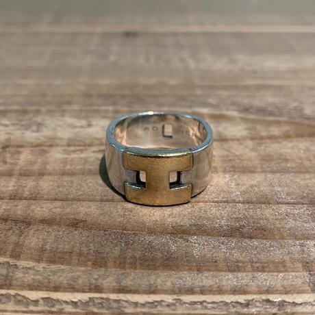 Hermès Vintage(エルメス ヴィンテージ)Stering Silver & 18k Gold Ring【19SS_3VH05】(N)