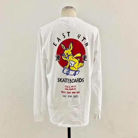 EAST 4TH SKATE BUNNY L/S TEE WHT