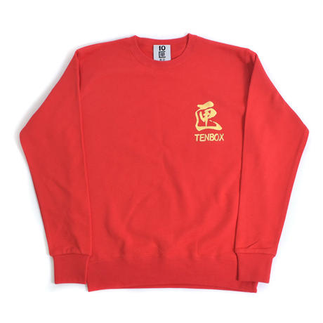 TEN BOX(テンボックス) A  TENBOX BLACKDRAGON SWEAT (RED)