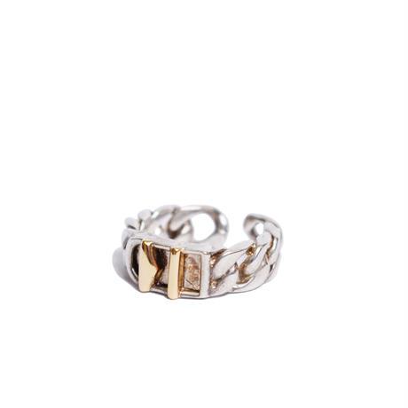 Hermès Vintage(エルメス ヴィンテージ)Stering Silver & 18k Gold Ring【SS19-VH06】12号(N)