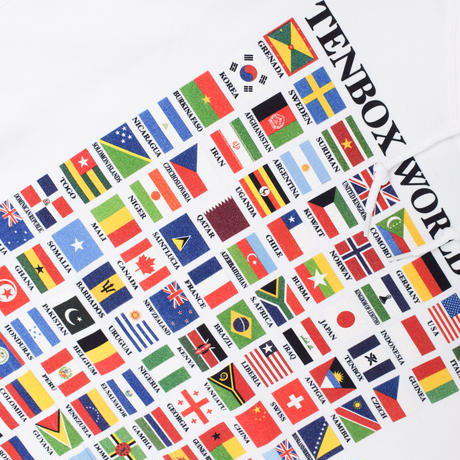 TENBOX WORLD FLAG HOODIE WHITE(N)