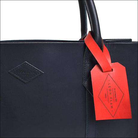LEON FLAM(レオンフラム)LEATHER TOTE BAG  NAVY