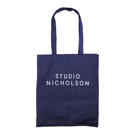 STUDIO NICHOLSON スタジオニコルソン COTTON CANVAS THE SMALL TOTE DARK NAVY【SNW-406】(N)