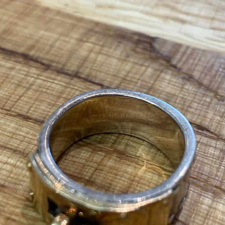 Hermès Vintage(エルメス ヴィンテージ)Stering Silver & 18k Gold Ring【SS19-VH07】(N)