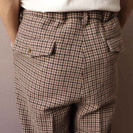 UNITUS(ユナイタス) FW19 Easy Dress Pant Beige Plaid Check【UTSFW19-P02SS】(N)