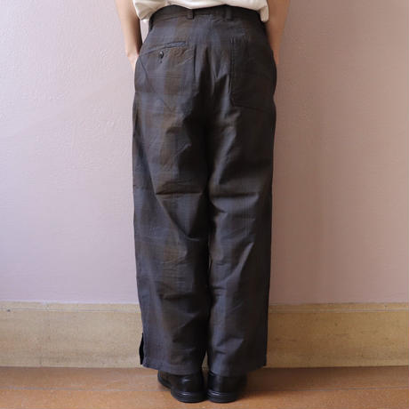 ChahChah チャーチャー CC AGING WORK PANTS BLACK CHECK【CC20SS-PT-02】