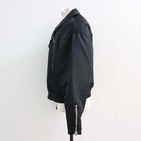 SOLARIS&Co.(ソラリスアンドコー) NYLON RIDERS JKT BLACK【19AW02016】(N)