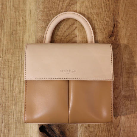 LEON FLAM FEMME(レオンフラム)LEATHER  BAG  VOLTIGE NATUREL(N)