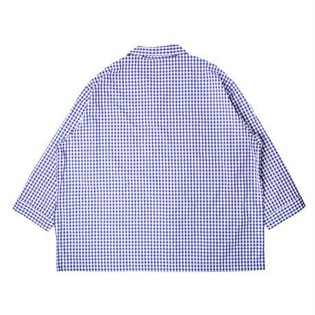"NOWHAW ノウハウ  ""jambo"" pajama violet blue (ギンガム)【P-S366-H】(N)"